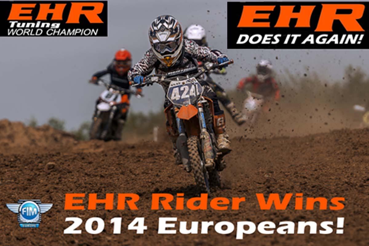 EHR Sponsored Rider Wins FIM European Championship 2014!