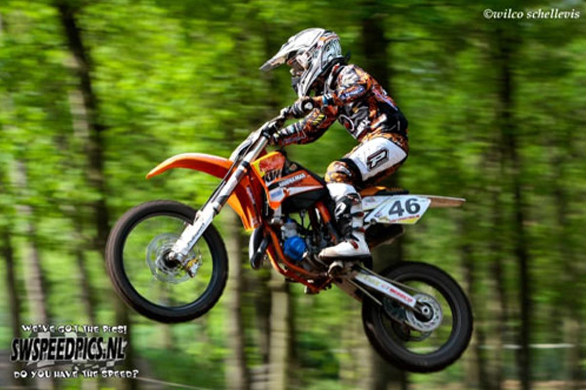 Davy Pootjes pakt top vijf plaats in EK 85cc in Duitsland